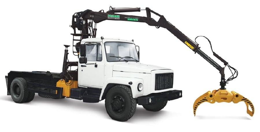 трактор с краном манипулятором - YouTube