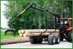 Лесовозный прицеп Палмс