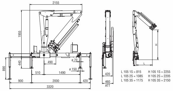 Конструктивные размеры Amco Veba 105 модель