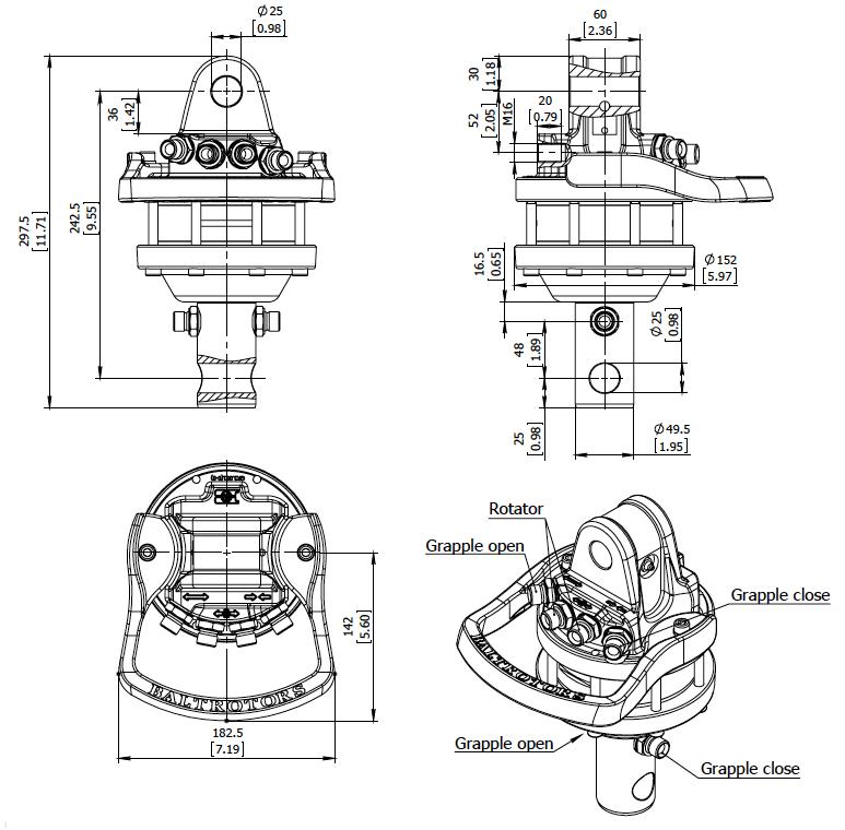 Ротатор грейферный