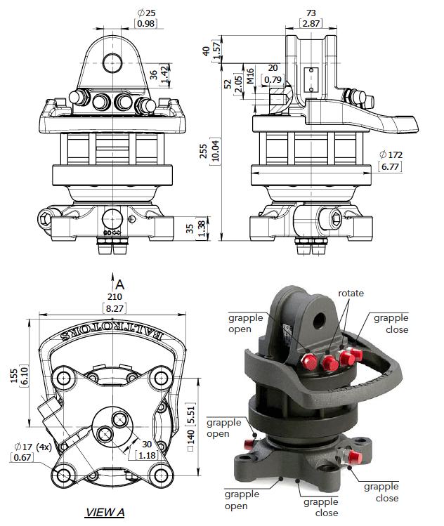 Ротатор для гидроманипулятора - купить
