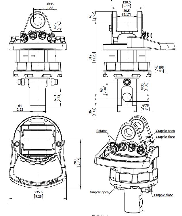 Ротатор на краноманипуляторную установку