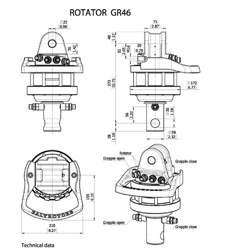 Ротатор манипулятора