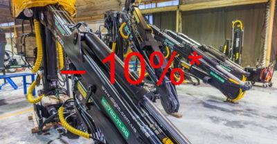Лесной кран повышенной грузоподъемности DL-100l