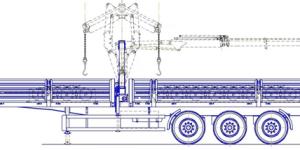ЛСПП на полуприцепе с КМУ схема