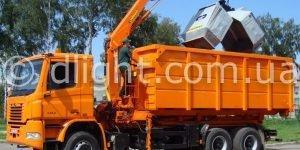 КрАЗ мусоровоз с манипулятором и мультилифтом для Грумбах